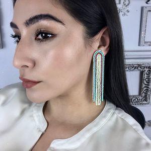 NEW Long Boho Chic Waterfall Statement Earrings